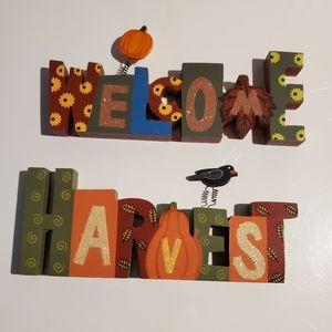 """Welcome Harvest"" 2-piece Decor"